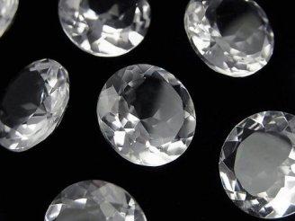 宝石質クリスタルAAA 穴なしラウンドファセットカット16×16mm 3粒