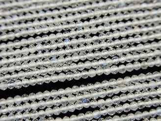 天然石卸 素晴らしい輝き!1連980円!レインボームーンストーンAAA- 極小ボタンカット2mm 1連(約32cm)