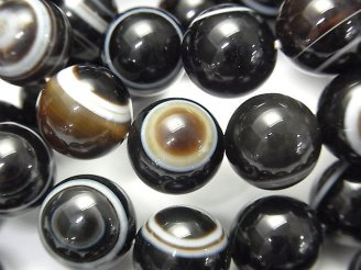 天然石卸 1連2,980円!高品質チベットアゲート(天眼石) ラウンド12mm 1連(ブレス)
