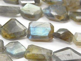 天然石卸 ◆特価◆1連1,580円〜!ラブラドライトAA++ タンブルカット 1連(約20cm)