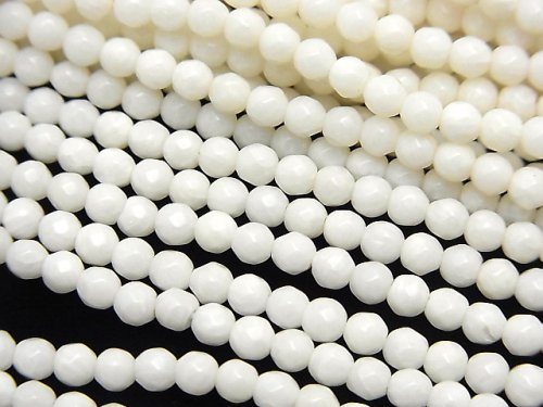 ホワイトコーラル(白サンゴ) ラウンドカット3mm 1連(約38cm)