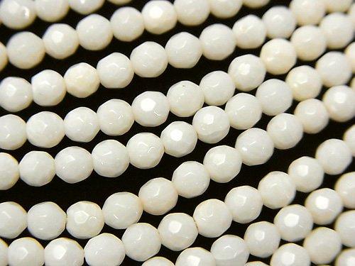 ホワイトコーラル(白サンゴ) ラウンドカット4mm 1連(約38cm)