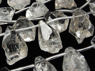 天然石卸 1連2,980円!クリスタル ラフロック〜タンブルカット クレオ穴 1連(約34cm)