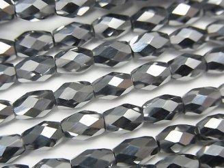 天然石卸 素晴らしい輝き!高純度テラヘルツ鉱石 ライスカット6×4×4mm 半連/1連(約38cm)