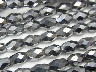 【動画】【素晴らしい輝き】高純度テラヘルツ鉱石 ライスカット6×4×4mm 半連/1連(約38cm)