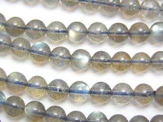 天然石卸 1連1,980円!ラブラドライトAAA ラウンド6mm 1連(約52cm)