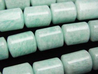 天然石卸 アマゾナイトAA++ トライアングルチューブ13×10×10mm 半連/1連(約37cm)