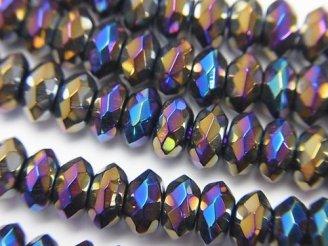 天然石卸 フラッシュ・オニキス ボタンカット6×6×3mm 半連/1連(約38cm)