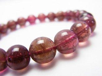 天然石卸 1点もの!ブラジル産宝石質ルベライト(ピンクトルマリン)AAA++ ラウンド8.5mm 1連(ブレス)