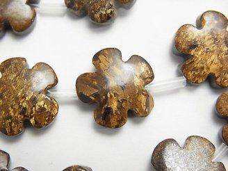 天然石卸 ブロンザイト フラワー(お花)15×15mm 半連/1連(約36cm)