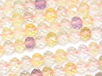 宝石質いろんな天然石AAA ボタンカット6×6×5mm 半連/1連(約38cm)