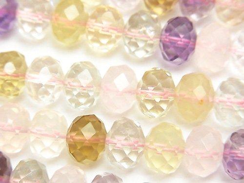 宝石質いろんな天然石AAA ボタンカット10×10×7mm 半連/1連(約38cm)