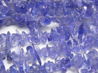 天然石卸 宝石質タンザナイトAAAA チップ 半連/1連(約86cm)