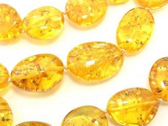 天然石卸 1点もの!高品質バルティックアンバー(琥珀)AAA タンブル ネックレス 1連(約66cm) NO.73