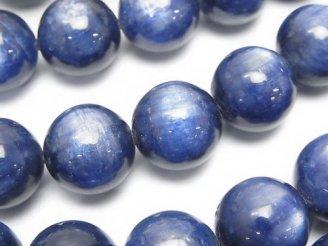 天然石卸 高品質カイヤナイトAAA++ 大粒ラウンド14mm 3粒〜1連(約38cm)