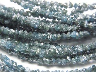 天然石卸 ブルーダイヤモンド チップ(ミニタンブル) 半連/1連(約34cm)