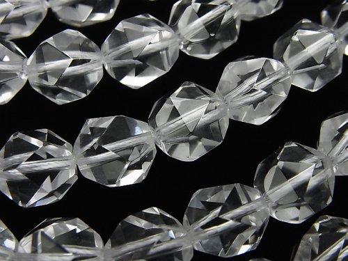 宝石質クリスタルAAA 20面ラウンドカット10mm 1/4連〜1連(約36cm)