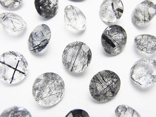 宝石質トルマリンクォーツAAA 穴なしラウンドファセットカット10×10×5mm 3粒