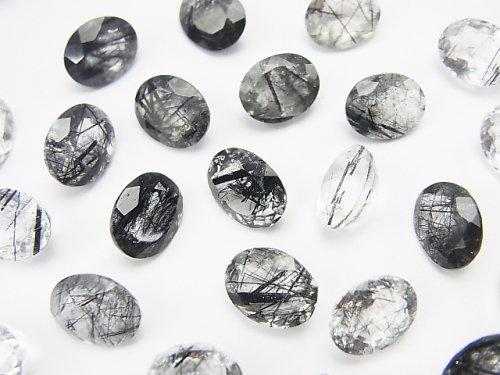 宝石質トルマリンクォーツAAA 穴なしオーバルファセットカット10×8mm 4粒