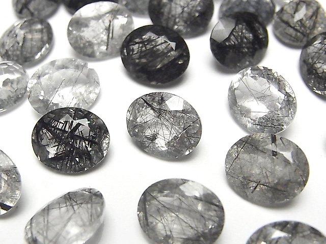 宝石質トルマリンクォーツAAA 穴なしオーバルファセットカット12×10mm 4粒