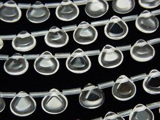 天然石卸 クリスタルAAA マロンシェイプ(プレーン)8×8×4mm 半連/1連(約38cm)