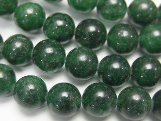 天然石卸 1連980円!インド産グリーンアベンチュリンAAA- ラウンド8mm 1連(約39cm)