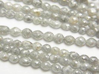 天然石卸 グレーダイヤモンド ライスカット 半連/1連(約38cm)