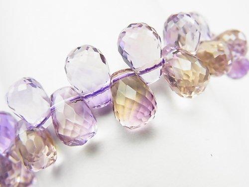 【動画】【1点もの】宝石質アメトリンAAA ドロップ ブリオレットカット 1連(ブレス) NO.61