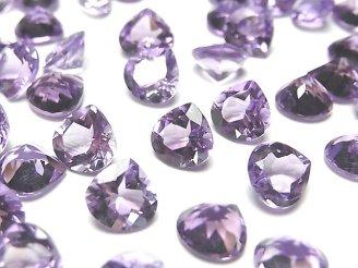 天然石卸 宝石質ピンクアメジストAAA 穴なしマロンファセットカット8×8mm 5粒780円!