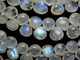 天然石卸 宝石質レインボームーンストーンAA++ マロン(プレーン) 半連/1連(約18cm)