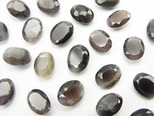 宝石質シリマナイトAAA 穴なしオーバルファセットカット8×6mm 5粒