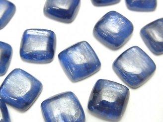 天然石卸 高品質カイヤナイトAAA スクエア カボション10×10×4mm 3個1,180円!