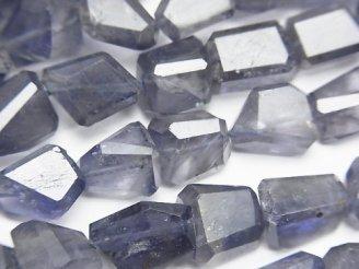 天然石卸 アイオライトAA++ タンブルカット 半連/1連(約38cm)