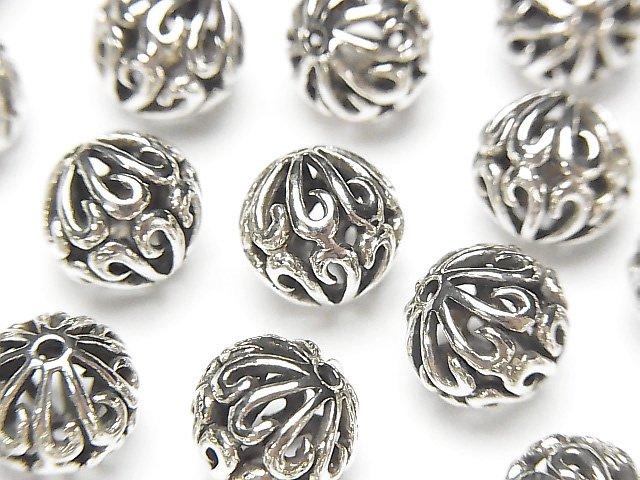 Silver925 デザイン ラウンド9mm 1個380円!