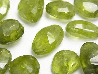 天然石卸 宝石質ペリドットAA++ 穴なしタンブルカット 4個3,980円!