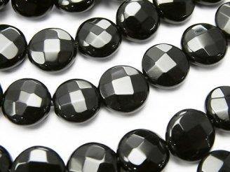 天然石卸 オニキス コインカット10×10×5mm 半連/1連(約36cm)