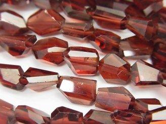 天然石卸 宝石質モザンビーク産ガーネットAAA タンブルカット 1/4連〜1連(約40cm)