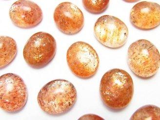 天然石卸 宝石質サンストーンAAA- オーバル カボション12×10mm 3個1,480円!