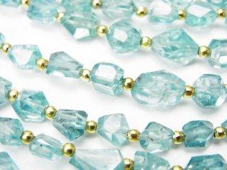 天然石卸 1連3,980円!宝石質天然ブルージルコンAAA- タンブルカット 1連(約18cm)