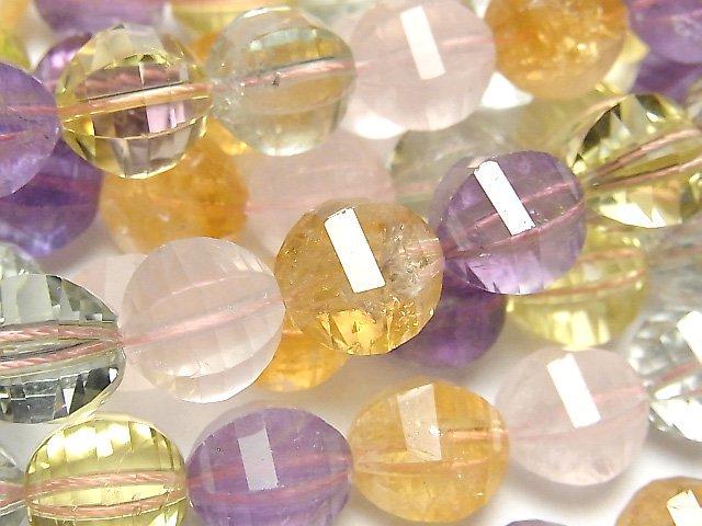 宝石質いろんな天然石AAA- ミラーラウンドカット12mm 1/4連〜1連(約38cm)