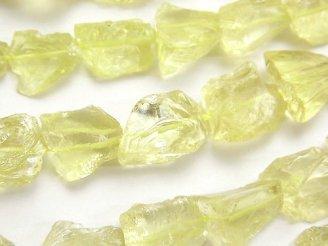 天然石卸 レモンクォーツAAA ラフロック タンブル 半連/1連(約38cm)