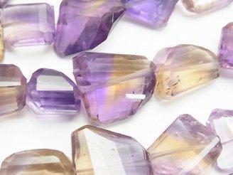 天然石卸 1連4,980円!宝石質アメトリンAAA- タンブルカット 1連(約16cm)