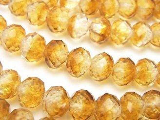 天然石卸 とんぼ玉 ボタンカット10×10×7mm 【オレンジ/蓄光タイプ】 半連/1連(約34cm)