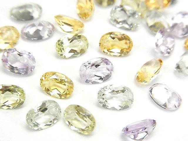 宝石質いろんな天然石AAA オーバル ファセットカット7×5×3mm 8粒・1連(ブレス)
