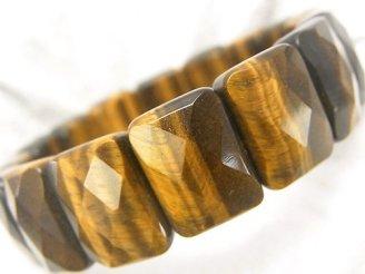 天然石卸 1連1,380円!イエロータイガーアイAAA- 2つ穴レクタングルカット16×12×7mm 1連(ブレス)