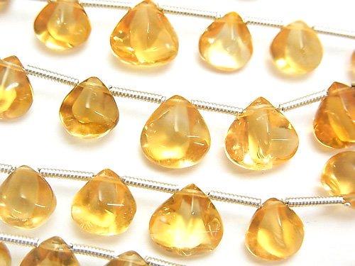 宝石質シトリンAAA 4面マロン サイズグラデーション 1連(約16cm)