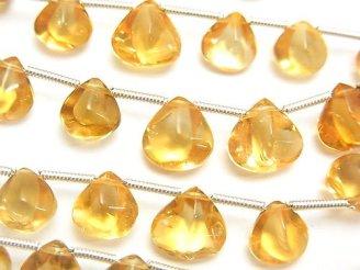天然石卸 1連2,480円!宝石質シトリンAAA 4面マロン サイズグラデーション 1連(約16cm)