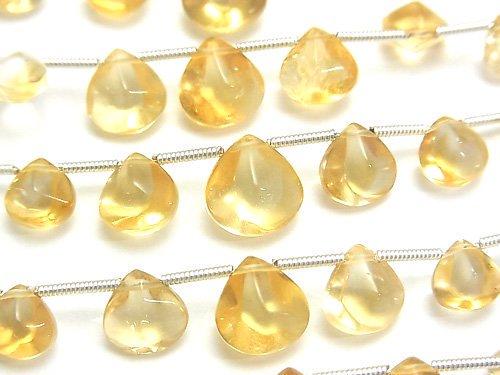 宝石質シトリンAAA- 4面マロン サイズグラデーション 1連(約16cm)