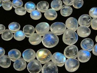 天然石卸 宝石質レインボームーンストーンAA++ マロン(プレーン) 半連/1連(約20cm)