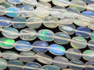 天然石卸 1連1,980円〜!宝石質エチオピア産クリスタルオパールAAA- オーバル 1連(約40cm)